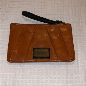 Vera wang camel brown leather wallet.